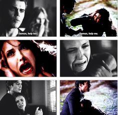 Damon is always there for her. - The Vampire Diaries