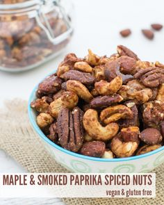 Maple & Smoked Paprika Spiced Nuts [vegan] [gluten free] by The ...