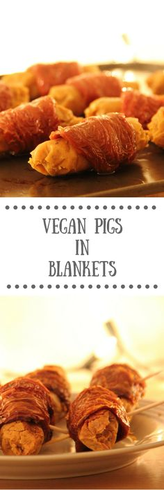 Vegan Pigs in Blankets | A perfect vegan and vegetarian appetiser recipe for any festive, Christmas feast!