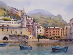 Geoff Kersey is a man who knows his way round a box of watercolours. This incredible painting is a scene from Cinque Terre in Italy. Learn how to paint this with Geoff later in the year only on ArtTutor.com
