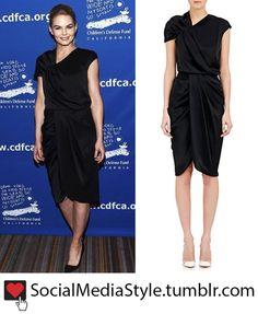 Buy Jennifer Morrison's Black Draped Dress, here!
