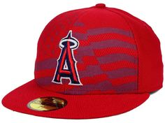 Los Angeles Angels of Anaheim MLB 2015 July 4th Stars & Stripes New Era 59FIFTY Cap Hats