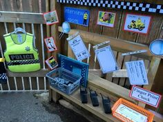 Police Activities, Eyfs Activities, Art Activities For Kids, Kindergarten Activities, Dramatic Play Themes, Dramatic Play Centers, Burglar Bill, People Who Help Us, Link And Learn