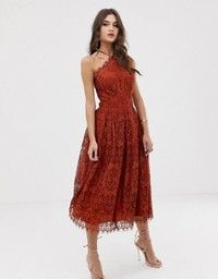 Revolve Clothing - Free People Lace Trapeze Midi Dress ...