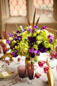 Purple and Green Flowers designed by JMFlora Design and photography by Katelyn James!