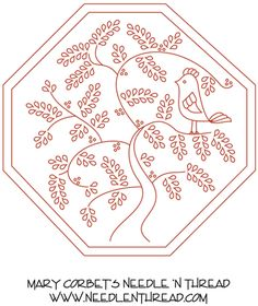 Hand Embroidery Pattern: Quaker Motif 2 For Surface Embroidery