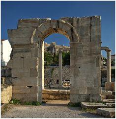 Hadrian's Library on Roman Agora