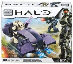 Amazon.com: Mega Bloks Halo Rapid Assault Covenant Ghost: Toys & Games