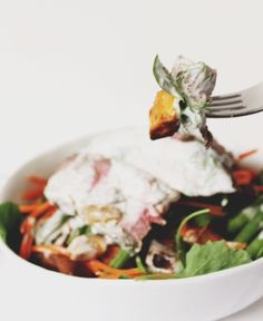 Autumn Balsalmic London Broil Salad with Homemade Non-Dairy Ranch. *From Jewhungry*