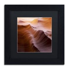 Trademark Fine Art Smooth I Canvas Art by Moises Levy Black Matte, Black Frame, Size: 11 x 11, Multicolor