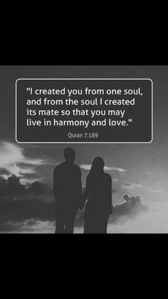 Allah created us mates for love and harmony. Cherish your spouse! ❤️ #Quran #Love #Marriage