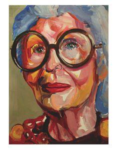 'Iris Apfel' by Ellie Skrzat for @buddyeditions