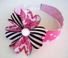 Headband Sewing Pattern with Flower - PDF e-Pattern