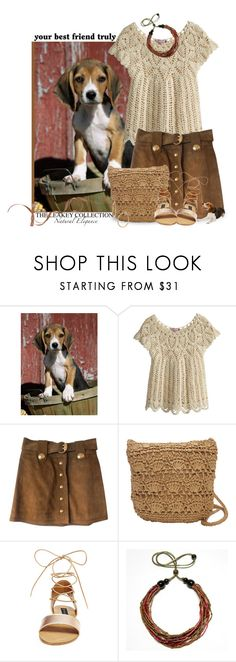 """Happy National Dog Day (August 26th)"" by theleakeycollection ❤ liked on Polyvore featuring Calypso St. Barth, Gucci, Magid, Steve Madden and Bony Levy"