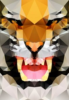 Tiger - Geo Art Print by Three of the Possessed | Society6