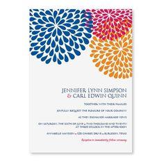 DIYWeddingTemplates.com - Chrysanthemum (Blue-Pink-Orange) Wedding Invitation Template, $10.00 (http://www.diyweddingtemplates.com/chrysanthemum-blue-pink-orange-wedding-invitation-template/)