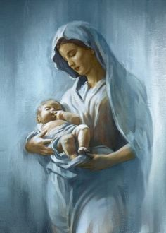 Pinterest Blessed Mother Mary, Blessed Virgin Mary, Jesus Pictures, Cool Pictures, Mama Mary, Mary And Jesus, Madonna And Child, Catholic Art, Christmas Pictures