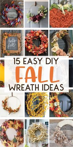15 Easy DIY Fall Wre