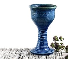 Ceramic Port or Sherry Goblet Handmade Pottery by DeeDeeDeesigns