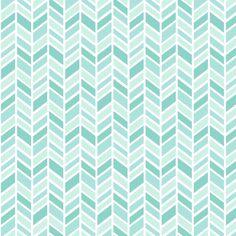 mod baby » herringbone mint fabric by misstiina on Spoonflower - custom fabric