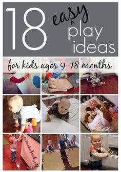 18 Easy Play Ideas for Kids Ages 9-18 months | Toddler Approved! | Bloglovin
