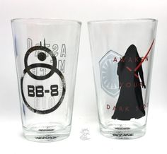 Star Wars BB-8 And Dark Side Two Piece Glass Set Star Wars: 16 oz Pint Glass Set Item Description: 2 piece glass set; 16-ounce glasses Laser print technology brings designs to life Great for everyday use; Hand wash recommended Arrives in full-color  open window gift box Say  Cheers  with Star Wars New, purchased for resale byKeywebco Video inspected when shipped Ships Fast and Free from the USA The item for sale is pictured and described on this page. The stock photo may include additional…