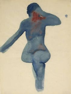 Georgia O'Keeffe. Nude Series, VIII  Watercolor on paper, 1917