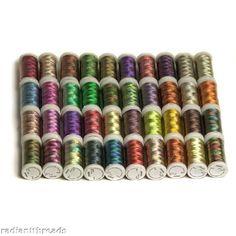 40 Spools Shading/Variegated Embroidery Machine Thread $19.99