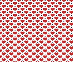 Norwegian hearts fabric by design_by_kolle on Spoonflower - custom fabric