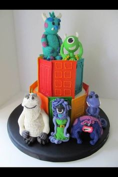 Monsters Inc 3rd Birthday Cake Cake by Hunnybee