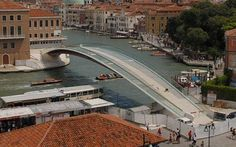 A Venice court has fined world-famous Spanish architect Santiago Calatrava for alleged errors that made his Constitution Bridge on the Grand Canal more expensive. Santiago Calatrava, Landscape Architecture, Architecture Design, Chinese Architecture, Architecture Office, Futuristic Architecture, Bridge Engineering, Venice Bridge, Bridge Construction