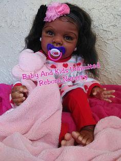 AA Infant reborn babyAfrican American by BabyandKidsUnlimited Reborn Toddler Girl, Reborn Baby Boy Dolls, Baby Doll Toys, Baby Girl Dolls, Reborn Babies, Life Like Baby Dolls, Life Like Babies, African American Baby Dolls, Black Baby Dolls