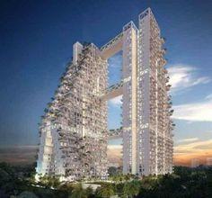 SKY HABITAT Dat men in Singapore indrukwekkende gebouwen neerzet moet we u nie...