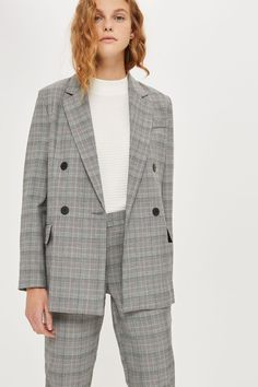 Checked Double Breasted Suit