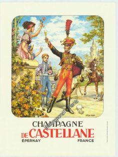 AFFICHE PUBLICITAIRE CHAMPAGNE DE CASTELLANE EPERNAY 1990