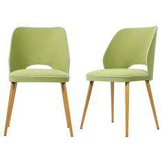 So into this design on Fab! Lizzie Dining Chair Grn Set Of 2