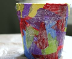 Paper Flower Pot Craft for Mother's Day