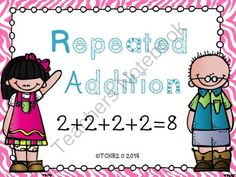Math Repeated Addition Bundle Smart Board and PDF from TCHR2.0 on TeachersNotebook.com -  (150 pages)  - Math Repeated Addition Bundle Smart Board and PDF