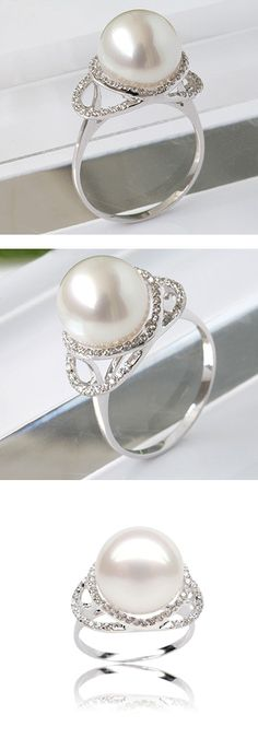 "If I ever get married I've decided I'd want a pearl wedding/engagement ring for several reasons. 1) It doesn't play into the global diamond racket and all of the violence that often accompanies it 2) they are hella less expensive leaving more resources to start our lives with 3) I love that they are from something hard and painful that has been made into something beautiful, I love that symbology and identify with it 4) my name means ""pearl of the sea"" 5) my grandmother's name was Pearl"