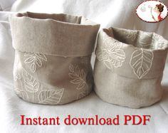 Reversible Round Fabric Storage Bins PDF Pattern and instructions for the sewing.  For other baby, children and adult patterns check here :  http://www.etsy.com/shop/lenasshoepatterns    When you buy this pattern, youll receive an e-mail from Etsy with a download link. Please, check the spam or junk mail folder.  If for any reason (wrong address for example) you dont receive the email with the link, the download will be available on the order page here on Etsy. Go to: Your...