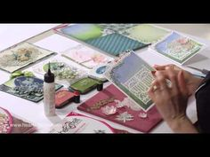 Coloring and Flower Shaping With Vellum - YouTube