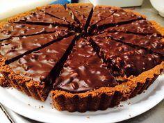 #dark chocolate n walnut tart