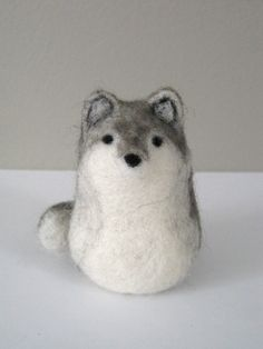Needle Felted Wolf by Woolnimals on Etsy, $30.00