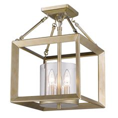 Modern Geometry Convertible Semi-Flush Ceiling Light