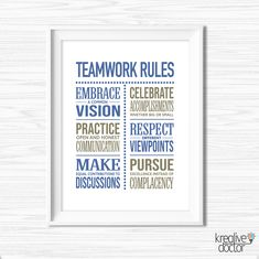 TimPrint Motivational Office Quotes Inspirational Success Quotes Office Wall Art Cubicle Decor Quotes for Boss Leadership Teamwork Quote Framed print