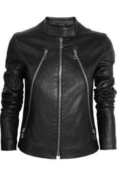 Zip-detailed leather jacket by: Maison Martin Margiela