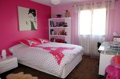 Chambre de fille sur http://www.decomaisondesign.com/decoration-chambre-ado-fille/decoration-chambre-ado-fille-03