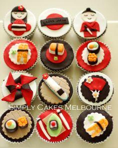 Japan Themed Cupcakes