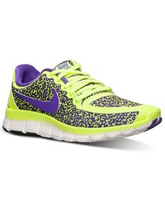 huge discount 309a9 a33ca Nike Women s Free 4.0 V4 Running Sneakers from Finish Line   Reviews -  Finish Line Athletic Sneakers - Shoes - Macy s