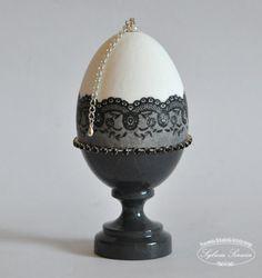 Black Lace Egg :: Sylwia Serwin pisanka decoupage